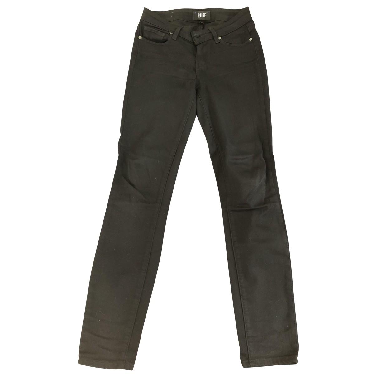 Paige Jeans \N Black Cotton - elasthane Jeans for Women 25 US