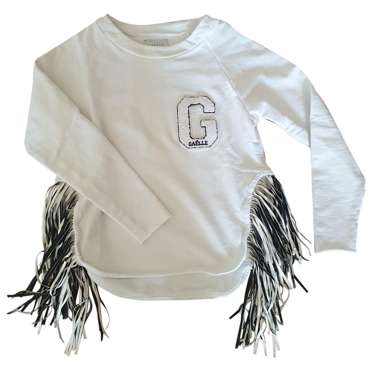 Gaelle Paris - Pull   pour femme en coton - blanc