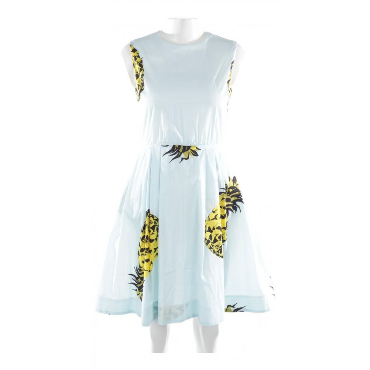 Msgm \N Kleid in  Blau Baumwolle
