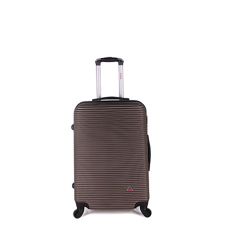 InUSA Royal Lightweight Hardside 24 Inch Spinner Luggage, One Size , Brown