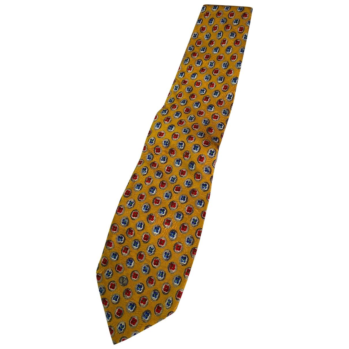 Valentino Garavani \N Yellow Silk Ties for Men \N