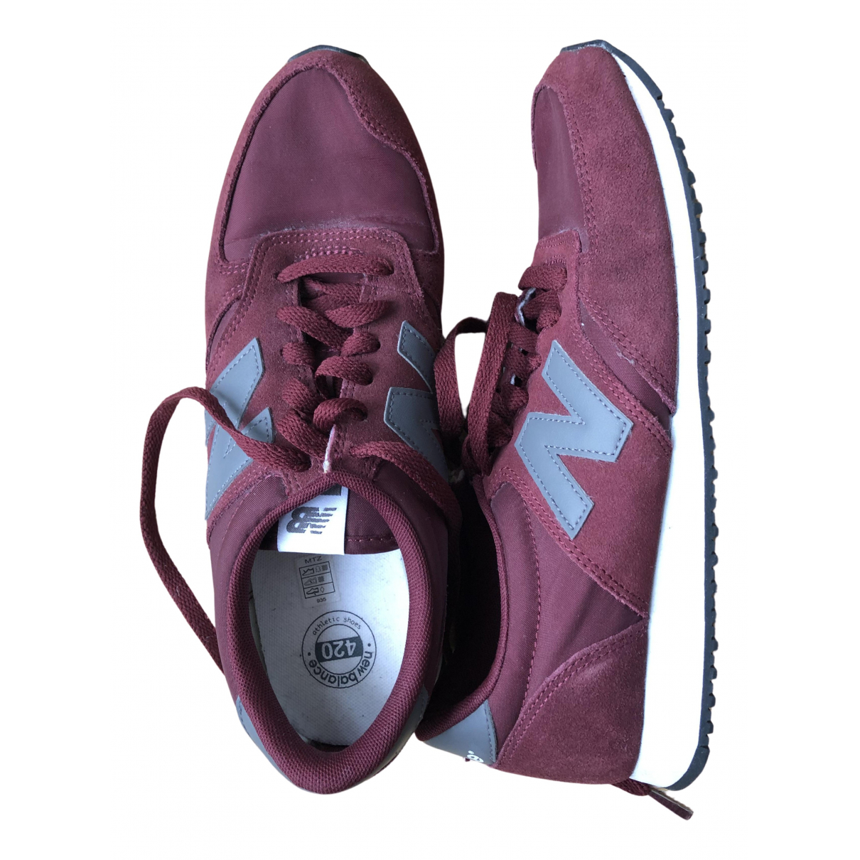 New Balance \N Sneakers in  Bordeauxrot Polyester