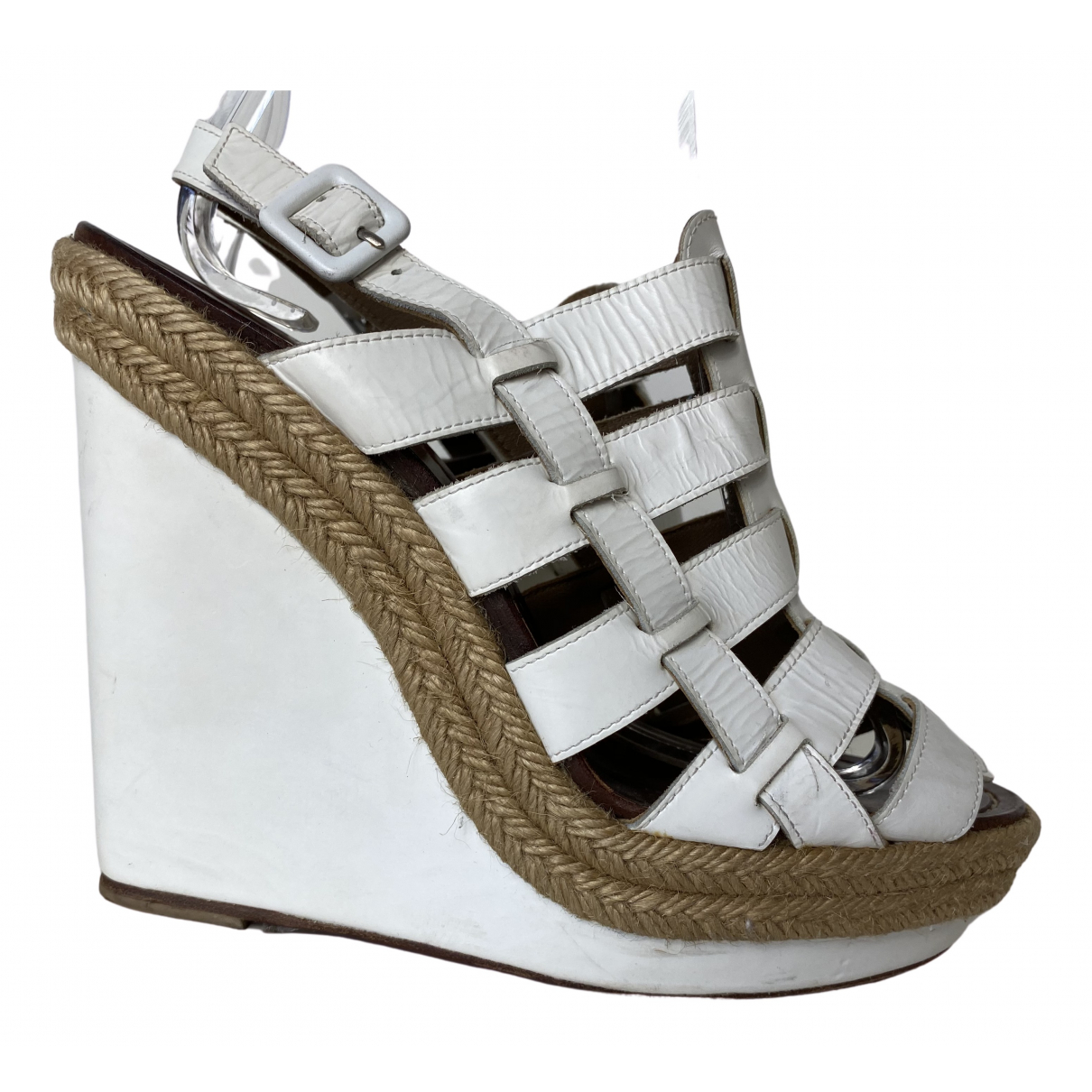 Christian Louboutin \N White Leather Sandals for Women 40 IT