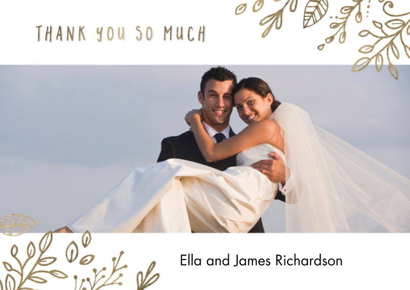 Thank You 5x7 Postcards, Card & Stationery -Thanks Foliage