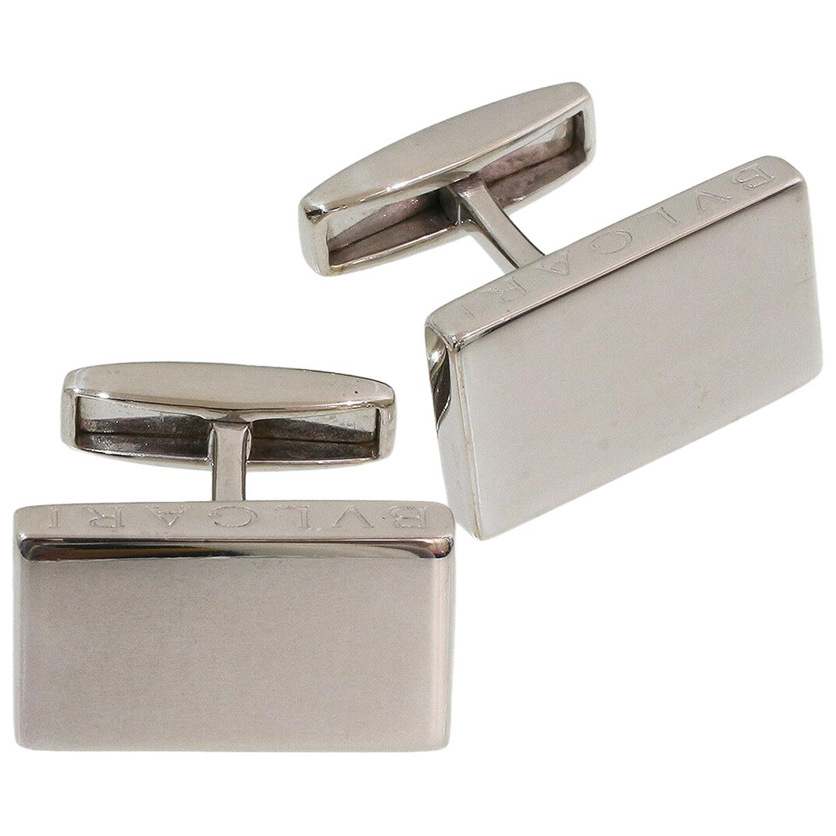 Bvlgari \N Manschettenknopfe in Silber