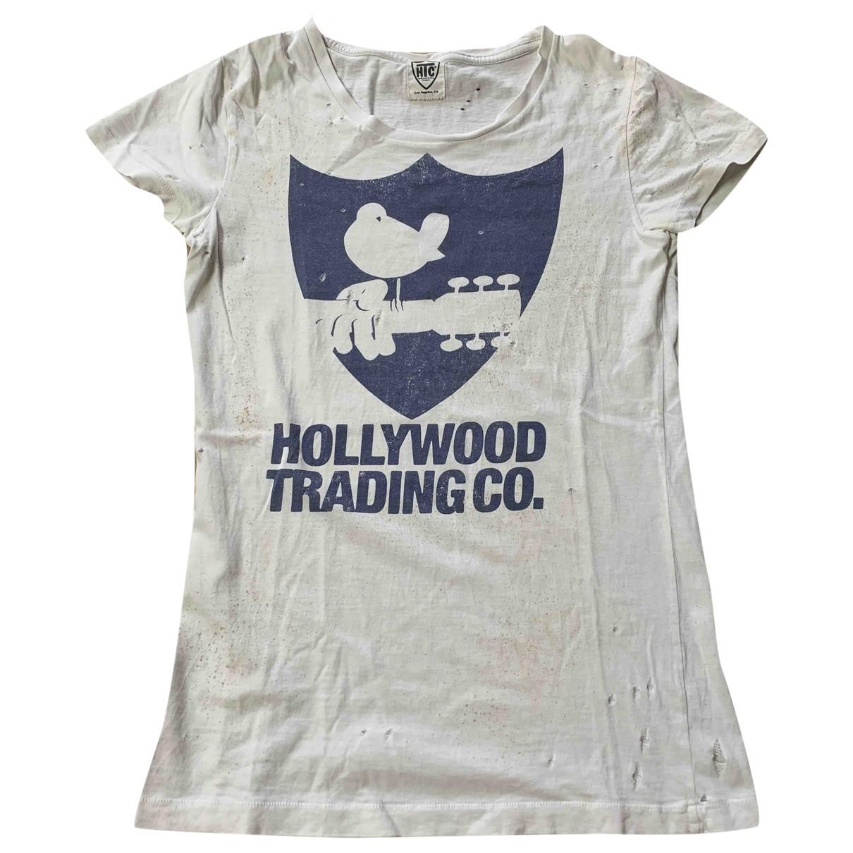 Htc - Top   pour femme en coton - blanc