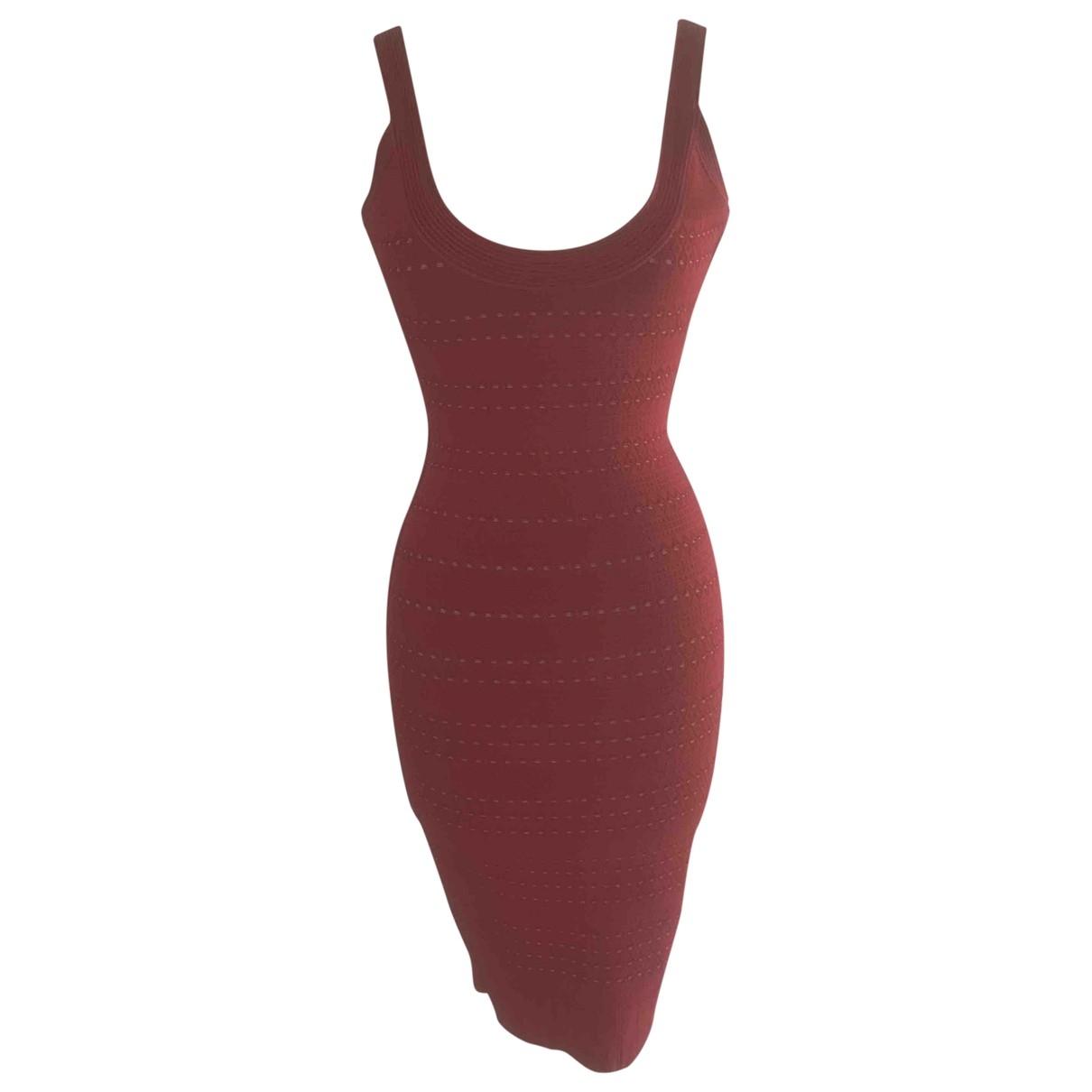 Herve Leger - Robe   pour femme en coton - elasthane - rouge