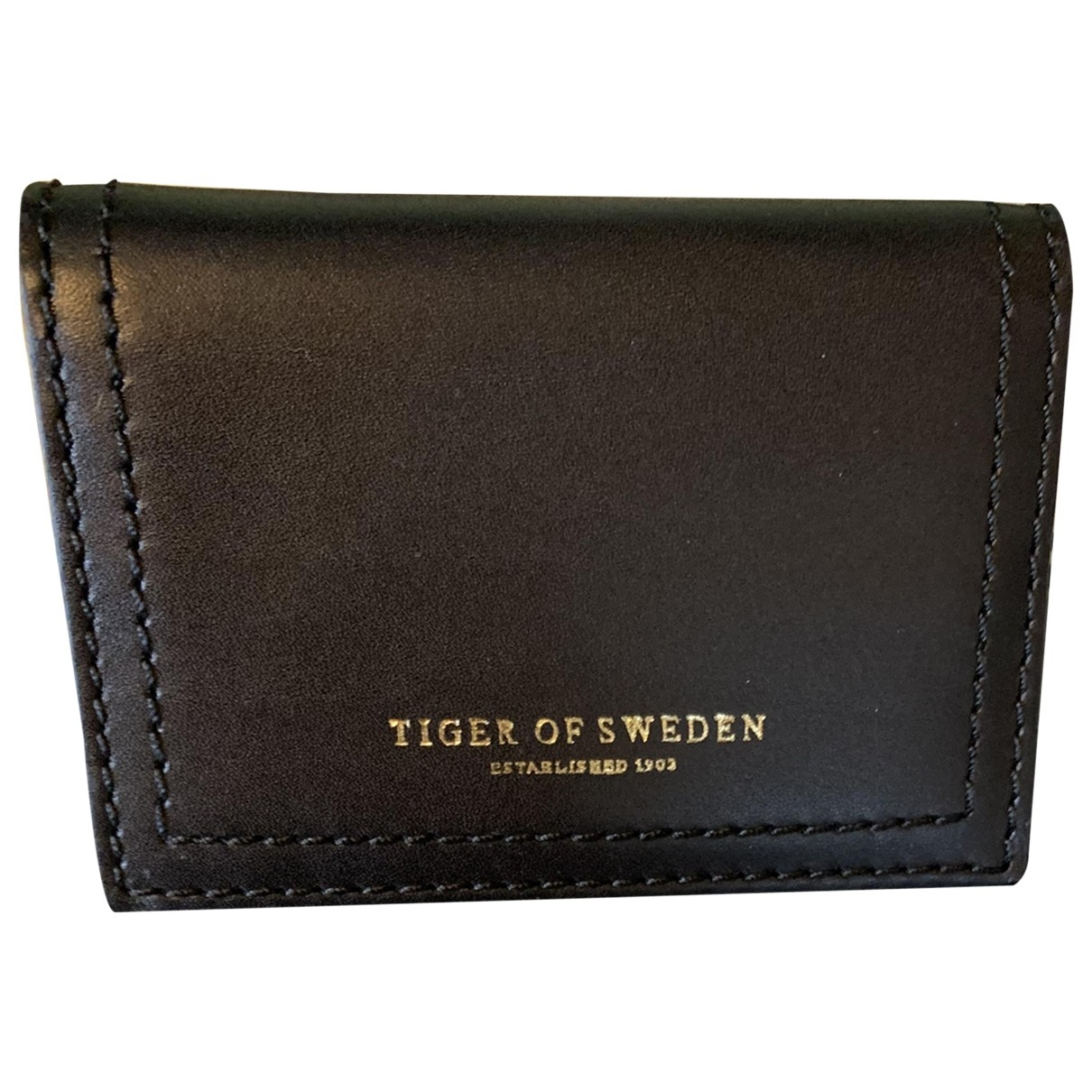Tiger Of Sweden - Portefeuille   pour femme en cuir - noir