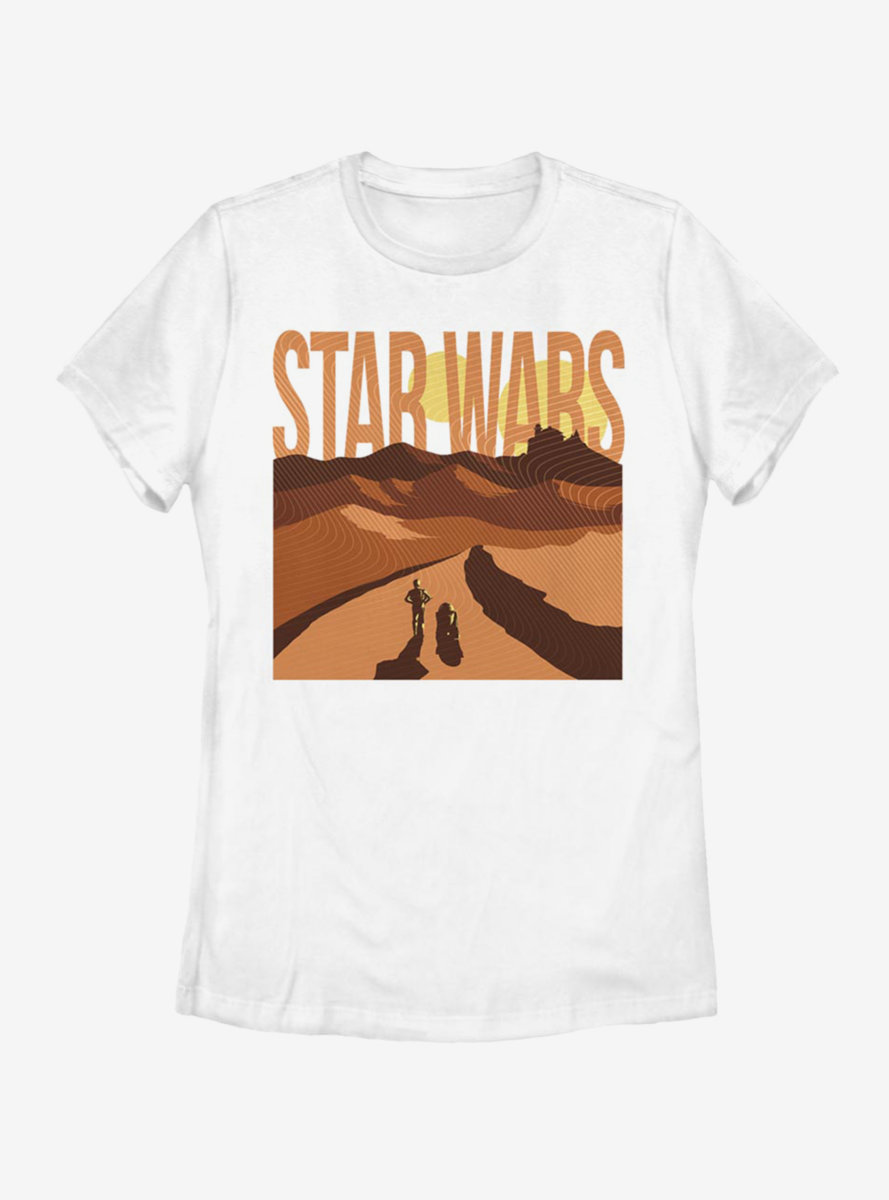 Star Wars Lost In The Desert Womens T-Shirt