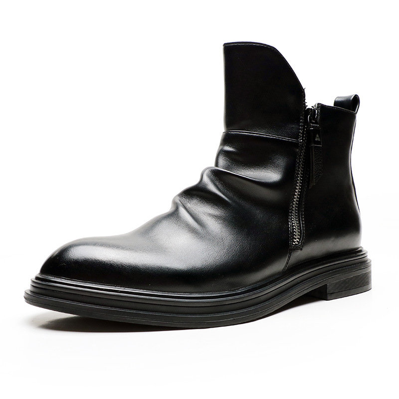 Men Stylish Zipped Inside Comfort Non Slip Casual Ankle Boots