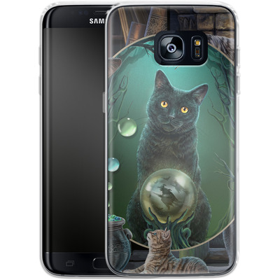 Samsung Galaxy S7 Edge Silikon Handyhuelle - Magical Cats Montage von Lisa Parker