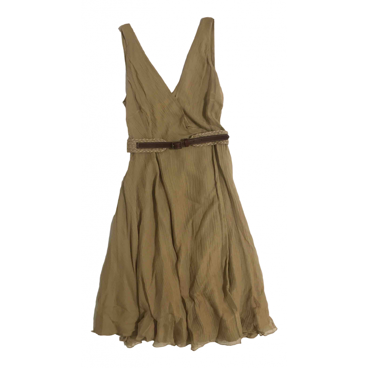 Ralph Lauren \N Beige Silk dress for Women 6 US