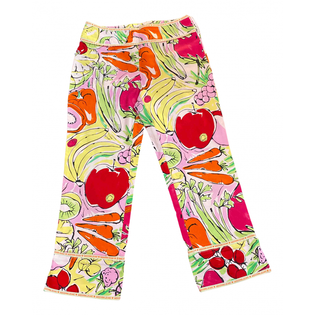 Moschino Love \N Multicolour Cotton Trousers for Women 40 IT