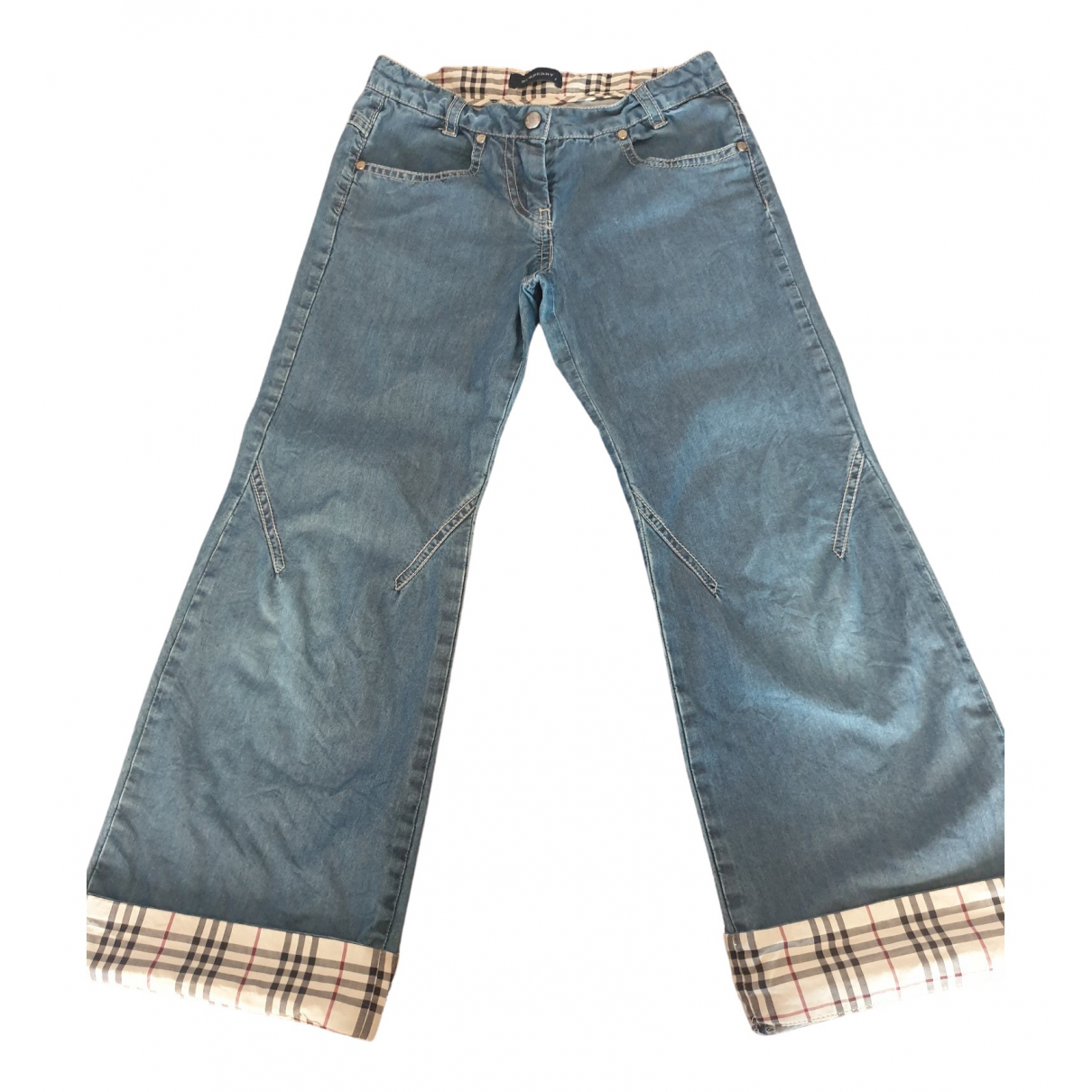 Burberry \N Blue Denim - Jeans Trousers for Kids 8 years - up to 128cm FR