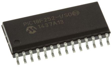 Microchip PIC18F252-I/SO, 8bit PIC Microcontroller, PIC18F, 40MHz, 32 kB Flash, 28-Pin SOIC