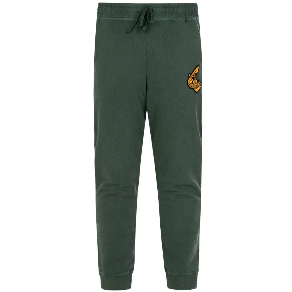Vivienne Westwood Anglomania Classic Logo Sweat Pants Colour: GREEN, Size: SMALL