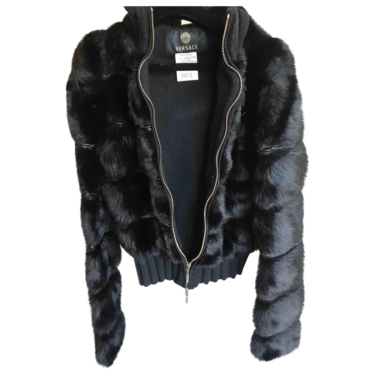 Versace \N Black Mink jacket for Women 38 IT