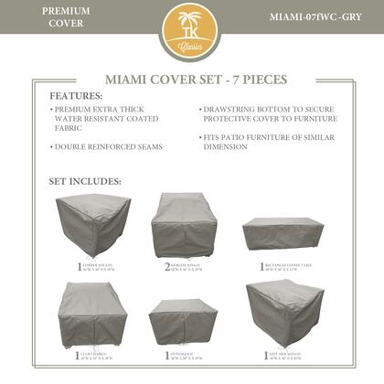 Miami MIAMI-07fWC-GRY MIAMI-07f Protective Cover Set in