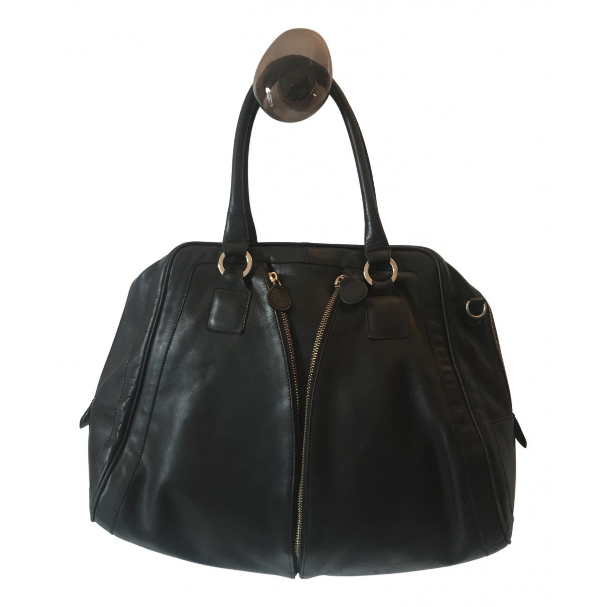 Pablo N Black Leather handbag for Women N