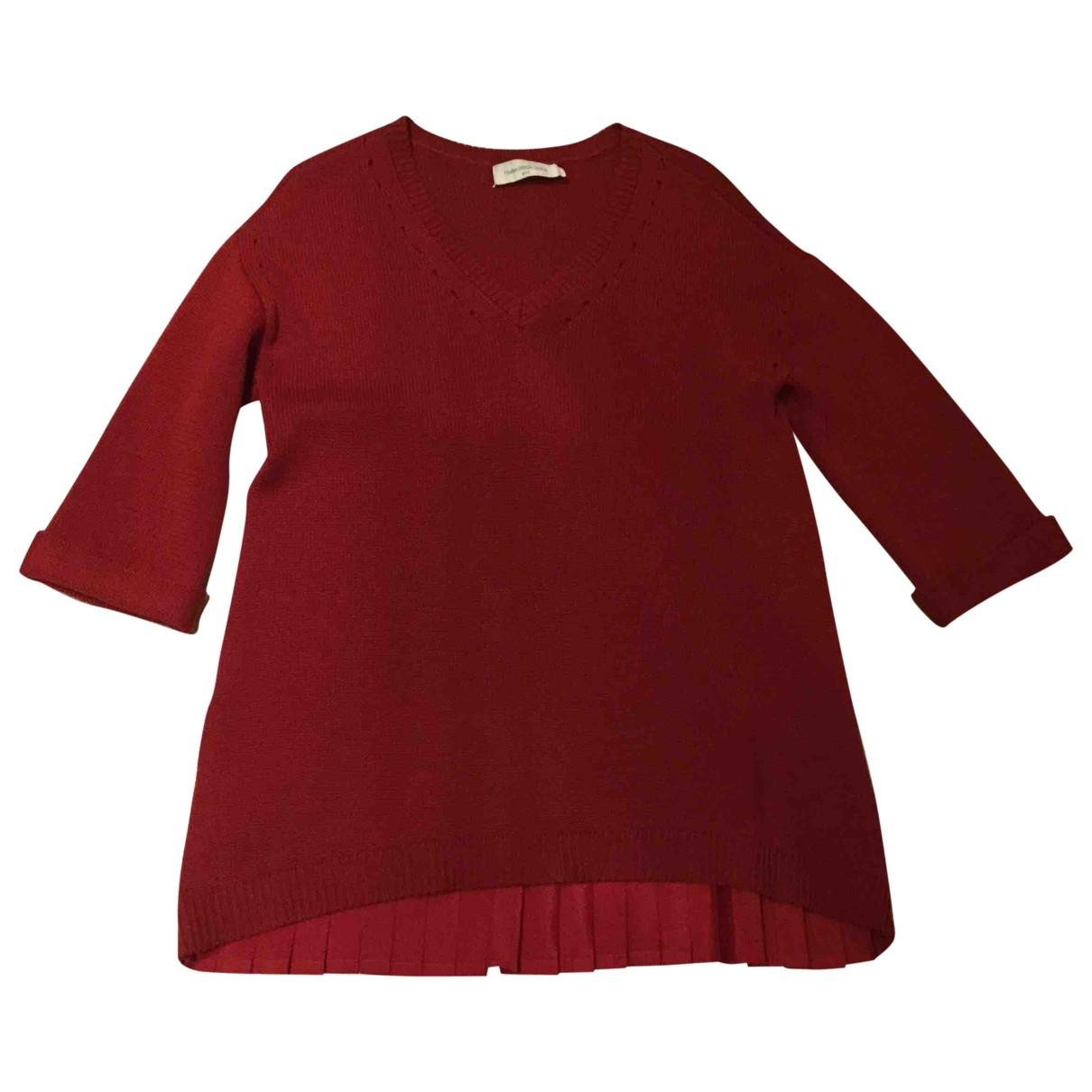 Maria Grazia Severi - Pull   pour femme en laine - bordeaux