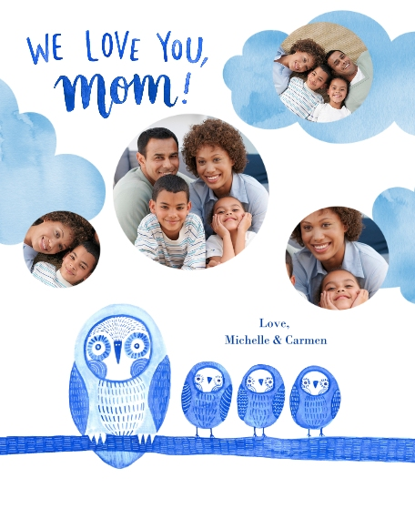 Family + Friends 16x20 Poster(s), Board, Home Décor -Owl Little Family