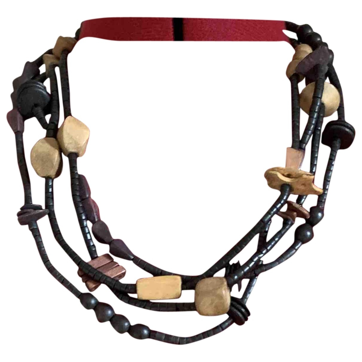Etro \N Black Wood Long necklace for Women \N
