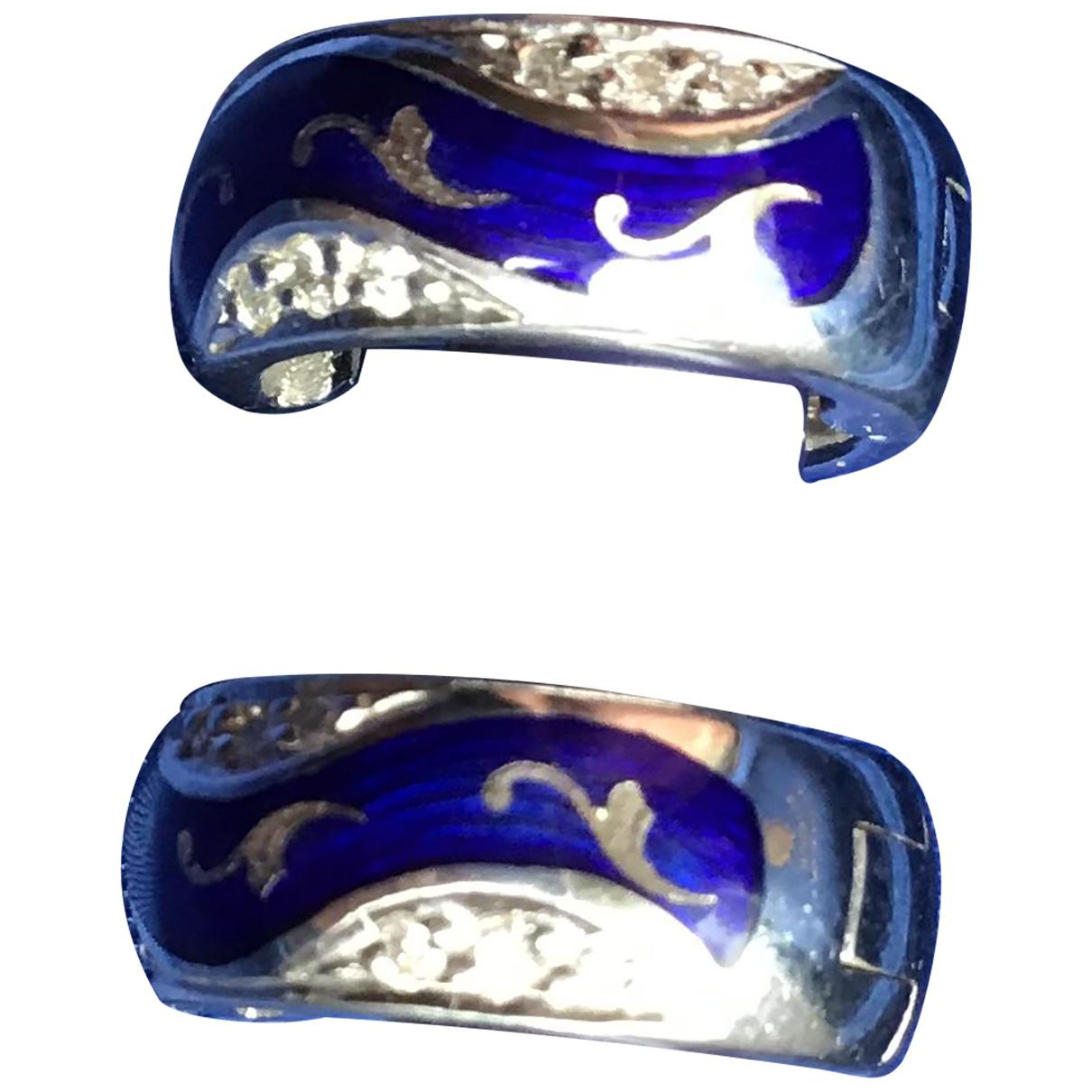 Faberge - Boucles doreilles   pour femme en or blanc - bleu