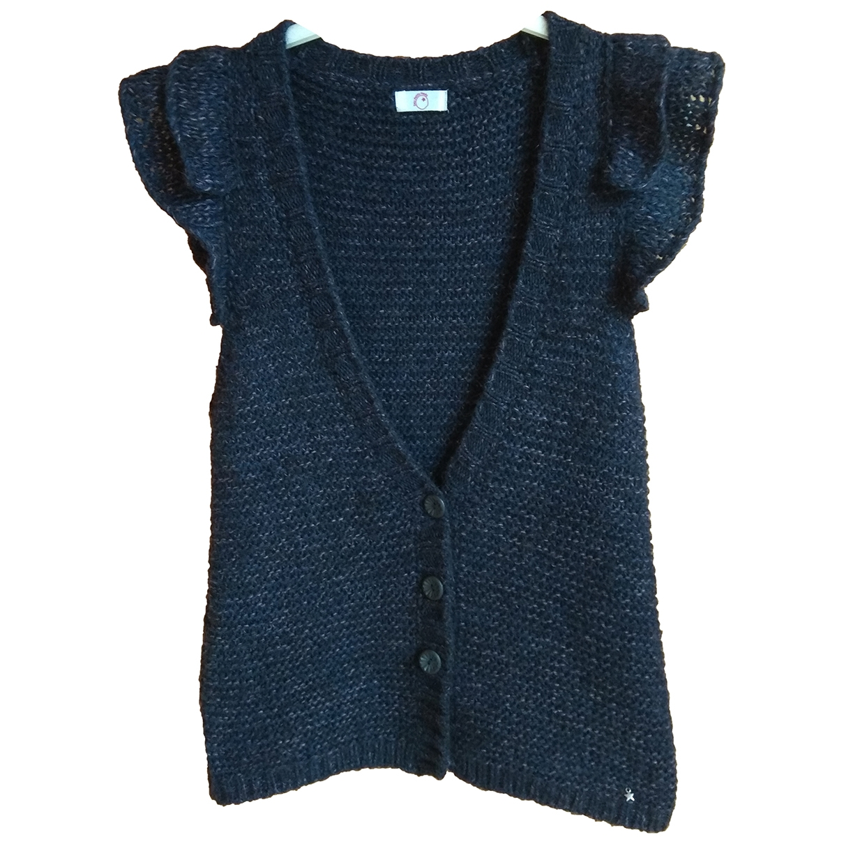 Des Petits Hauts \N Navy Wool Knitwear for Women 1 0-5
