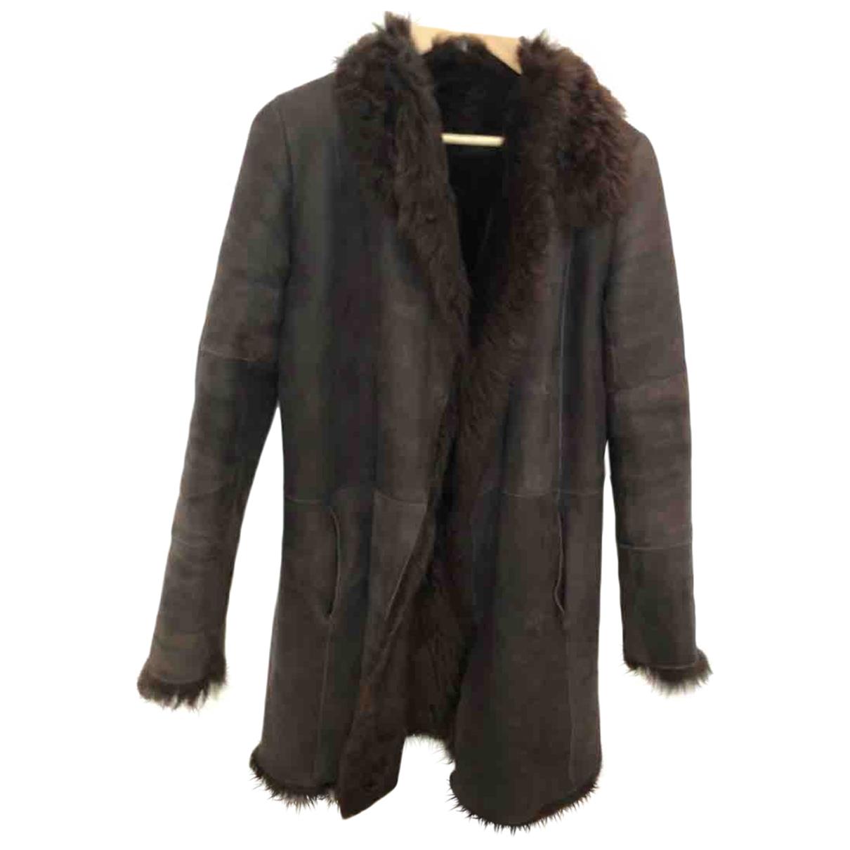 Joseph \N Brown Mongolian Lamb coat for Women 36 FR