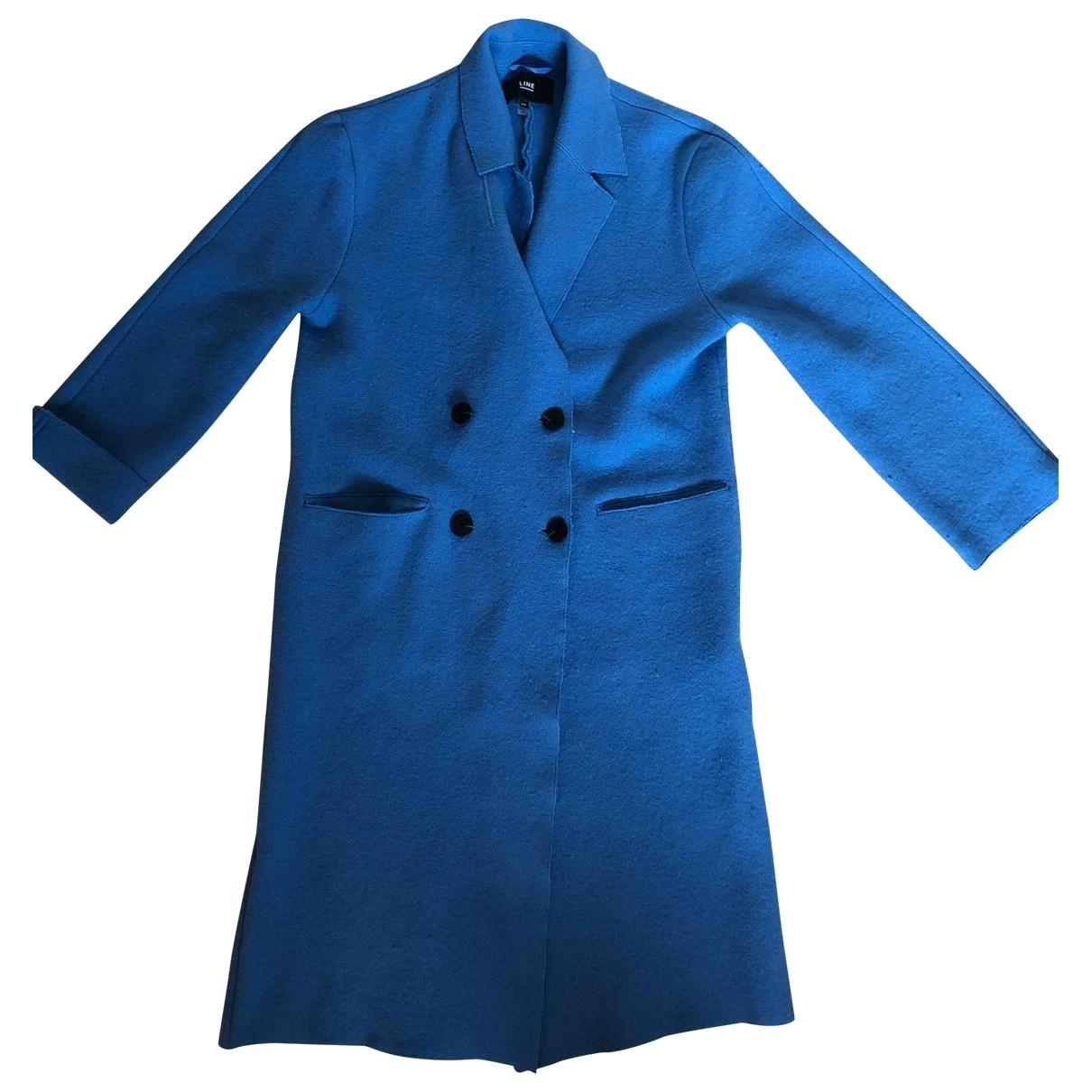 Non Signe / Unsigned \N Maentel in  Blau Baumwolle