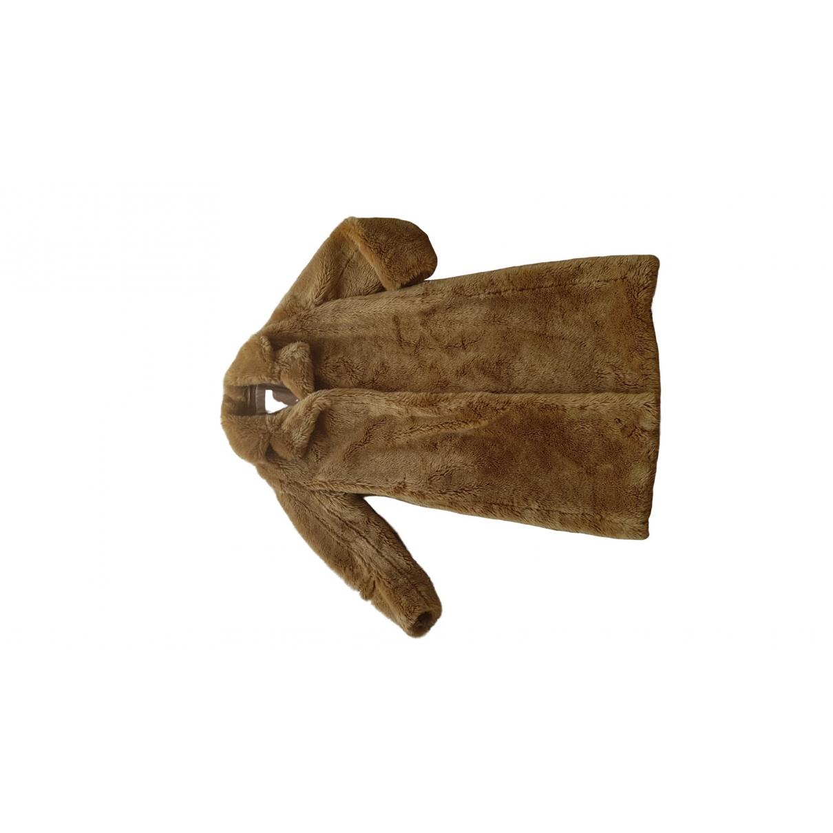 Dries Van Noten - Manteau   pour femme en fourrure synthetique - camel