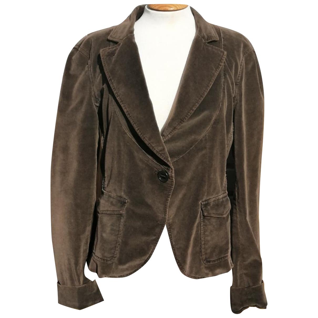 Armani Exchange - Veste   pour femme en velours - marron