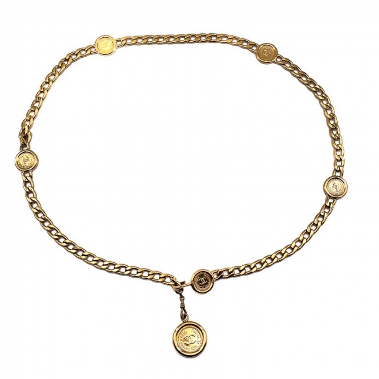 Chanel \N Gold Metal belt for Women M International