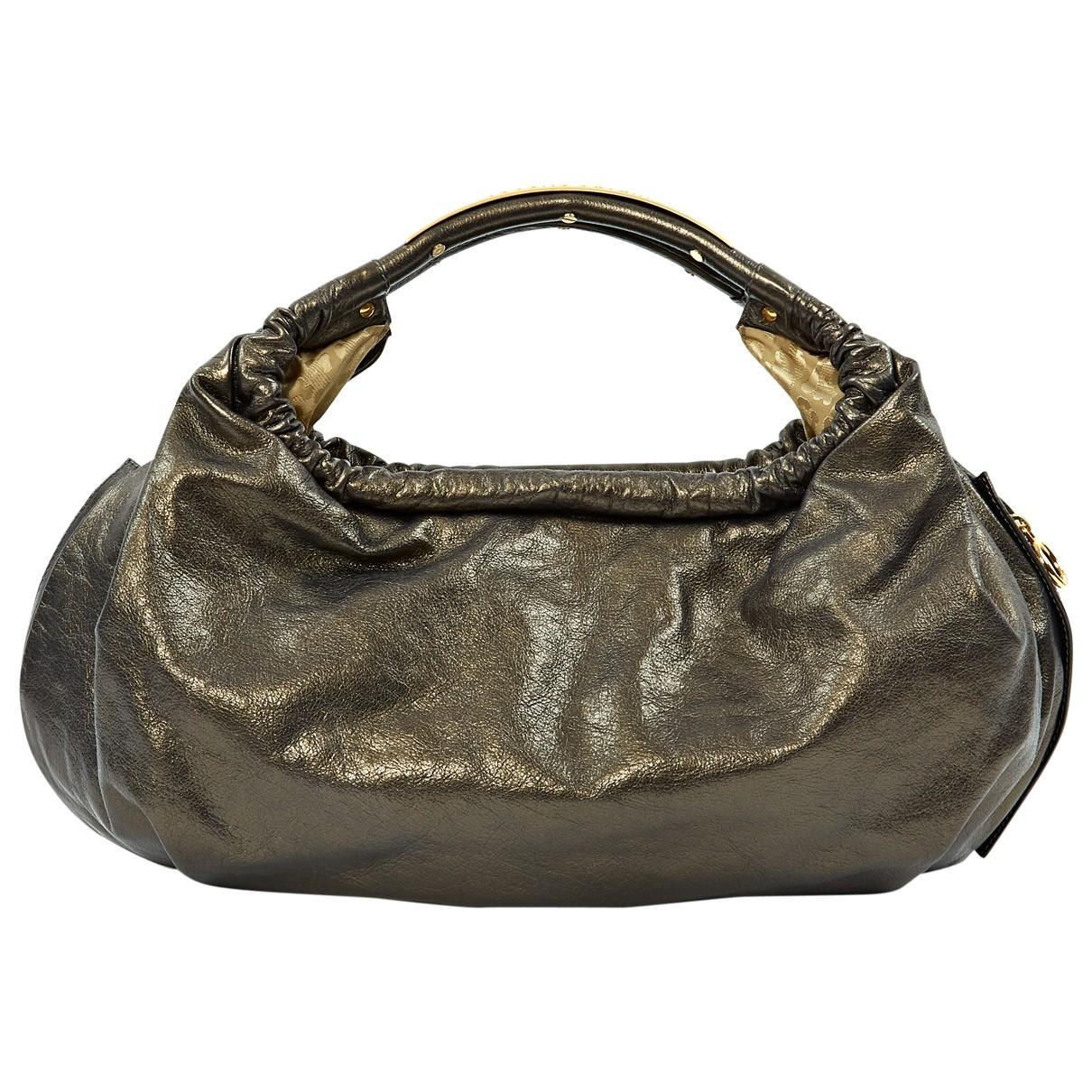 Roberto Cavalli \N Grey Patent leather handbag for Women \N