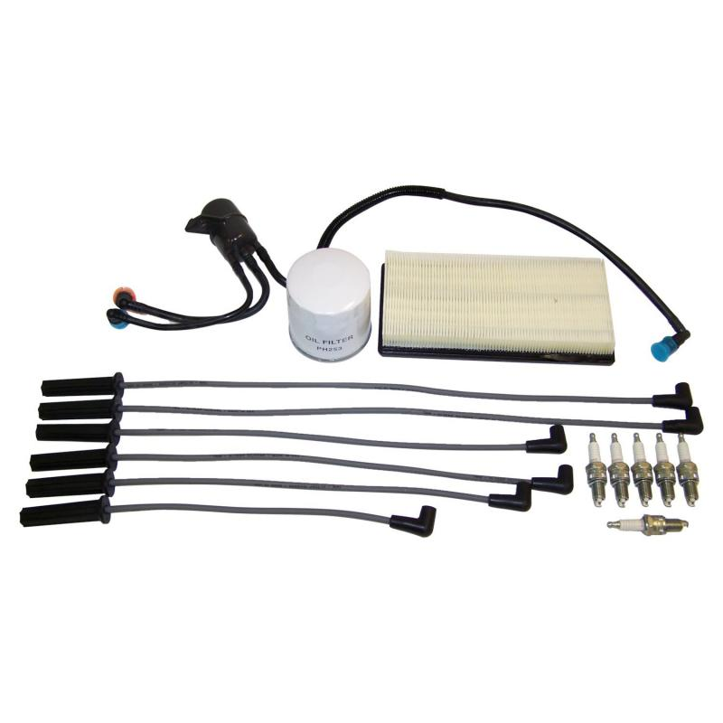 Crown Automotive TK37 Jeep Replacement Tune Up Kit for 96-00 NS Dodge, Chrysler, Plymouth Minivans w/ 3.3L, 3.8L Engine