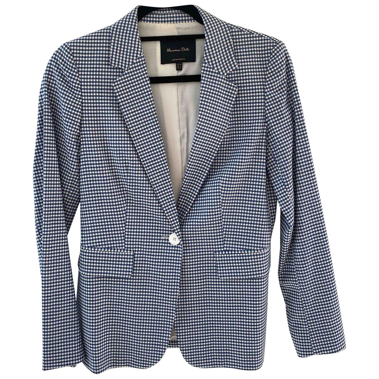 Massimo Dutti \N Jacke in  Blau Wolle
