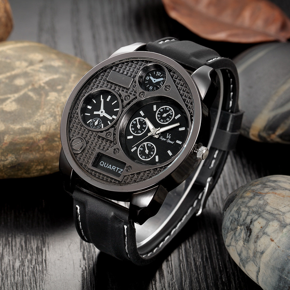 Outdoor Sport Wristwatches Silicone Band Mens Watches Quartz Clock Military Watches for Men