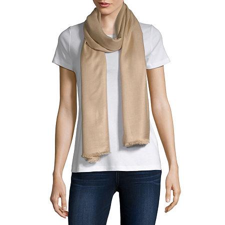 Liz Claiborne Pashmina-Style Scarf, One Size , Beige
