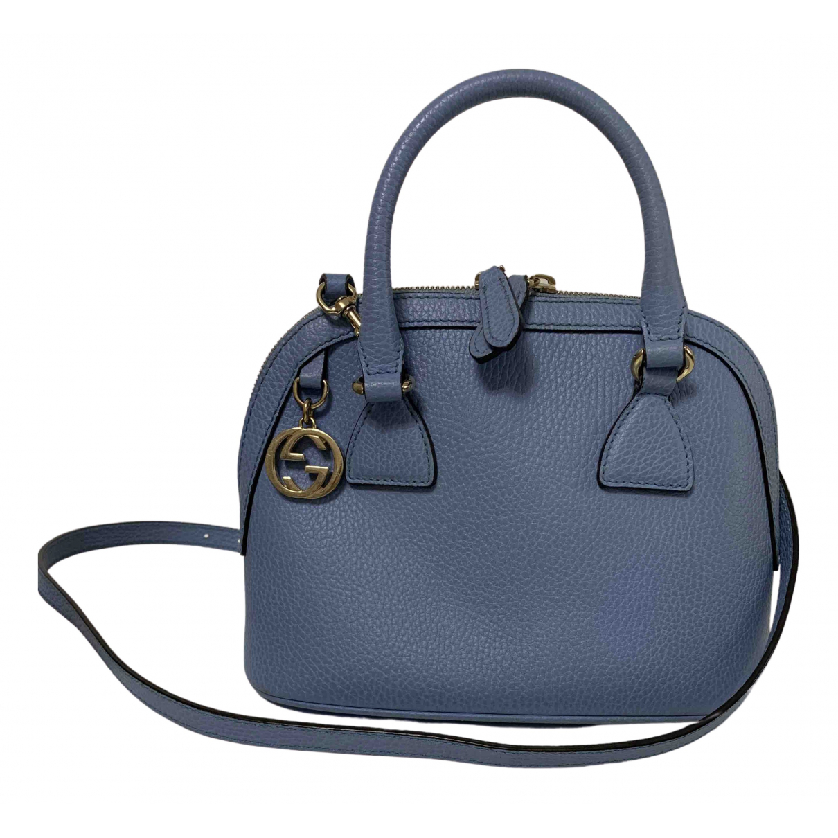 Gucci - Sac a main   pour femme en cuir - bleu
