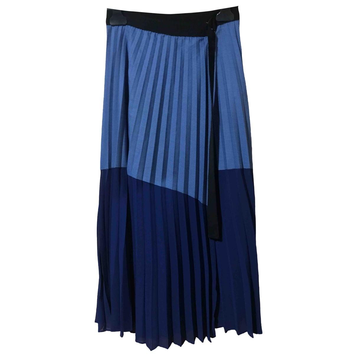 Sandro Spring Summer 2019 Blue Cotton skirt for Women 1 0-5