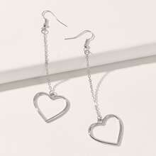 Chain Heart Drop Earrings