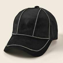 Rhinestone Decor Baseball Cap