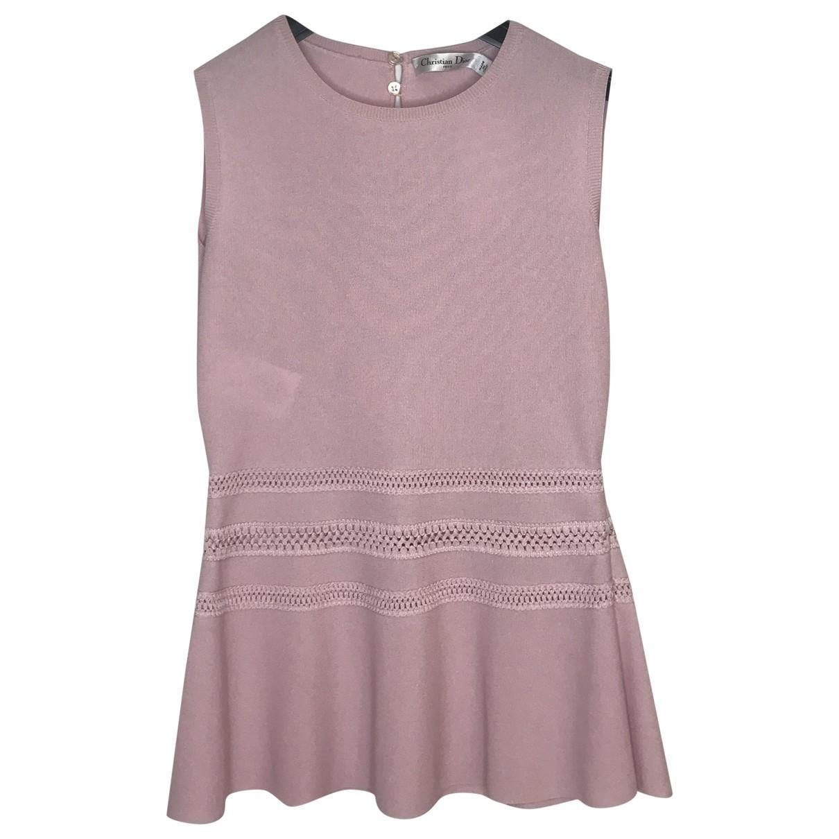 Dior - Pull   pour femme en coton - rose