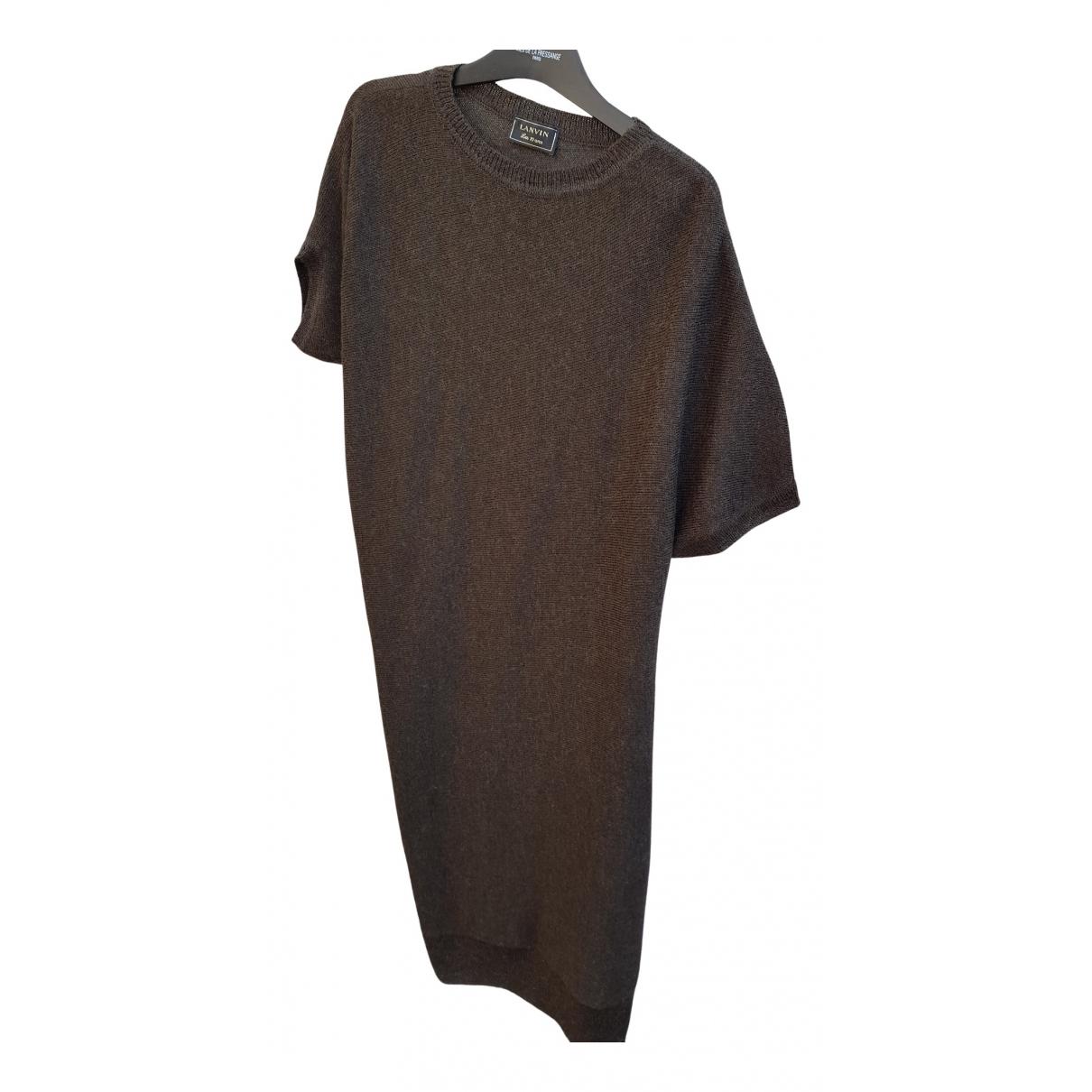 Lanvin - Robe   pour femme en laine - kaki