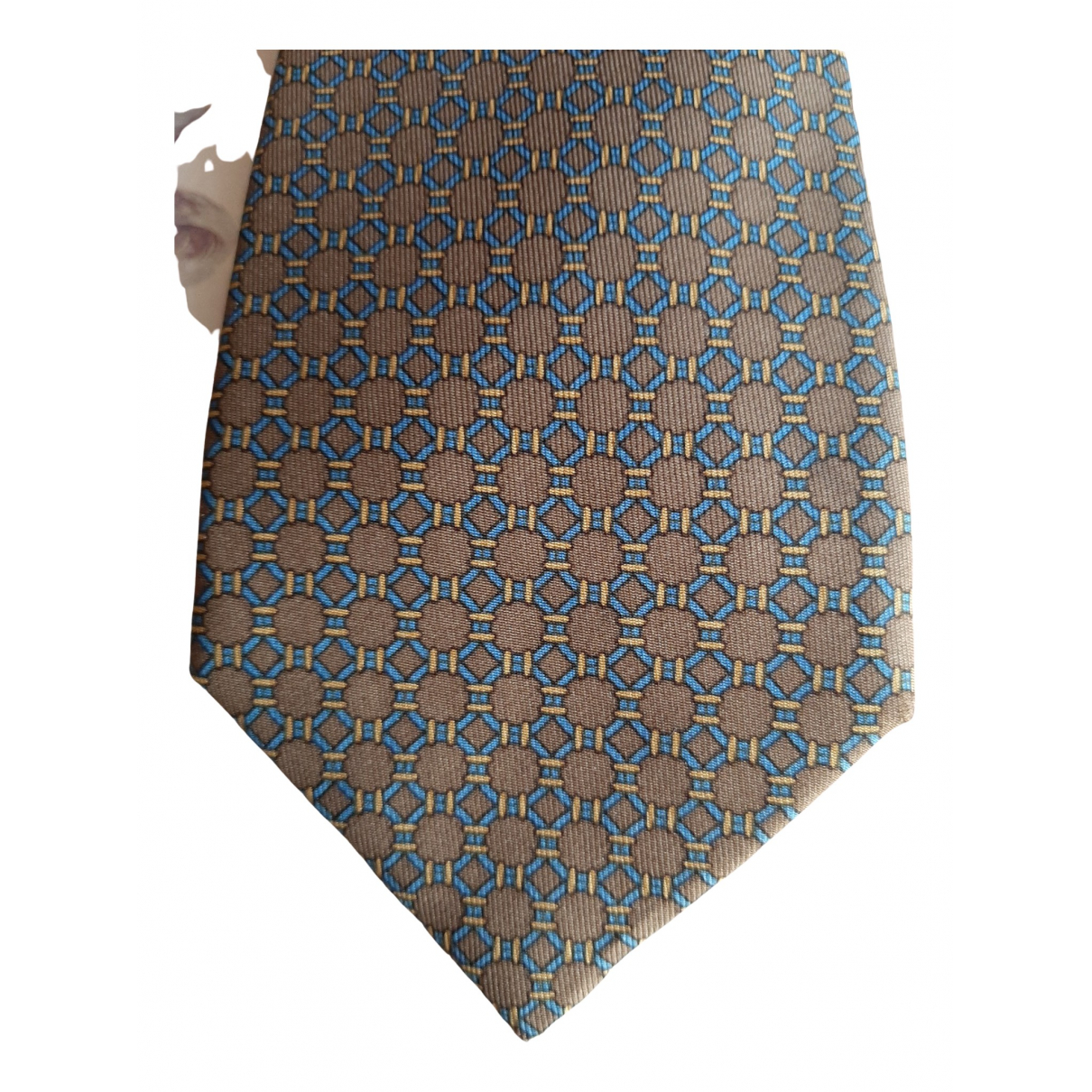Hermes - Cravates   pour homme en soie - camel