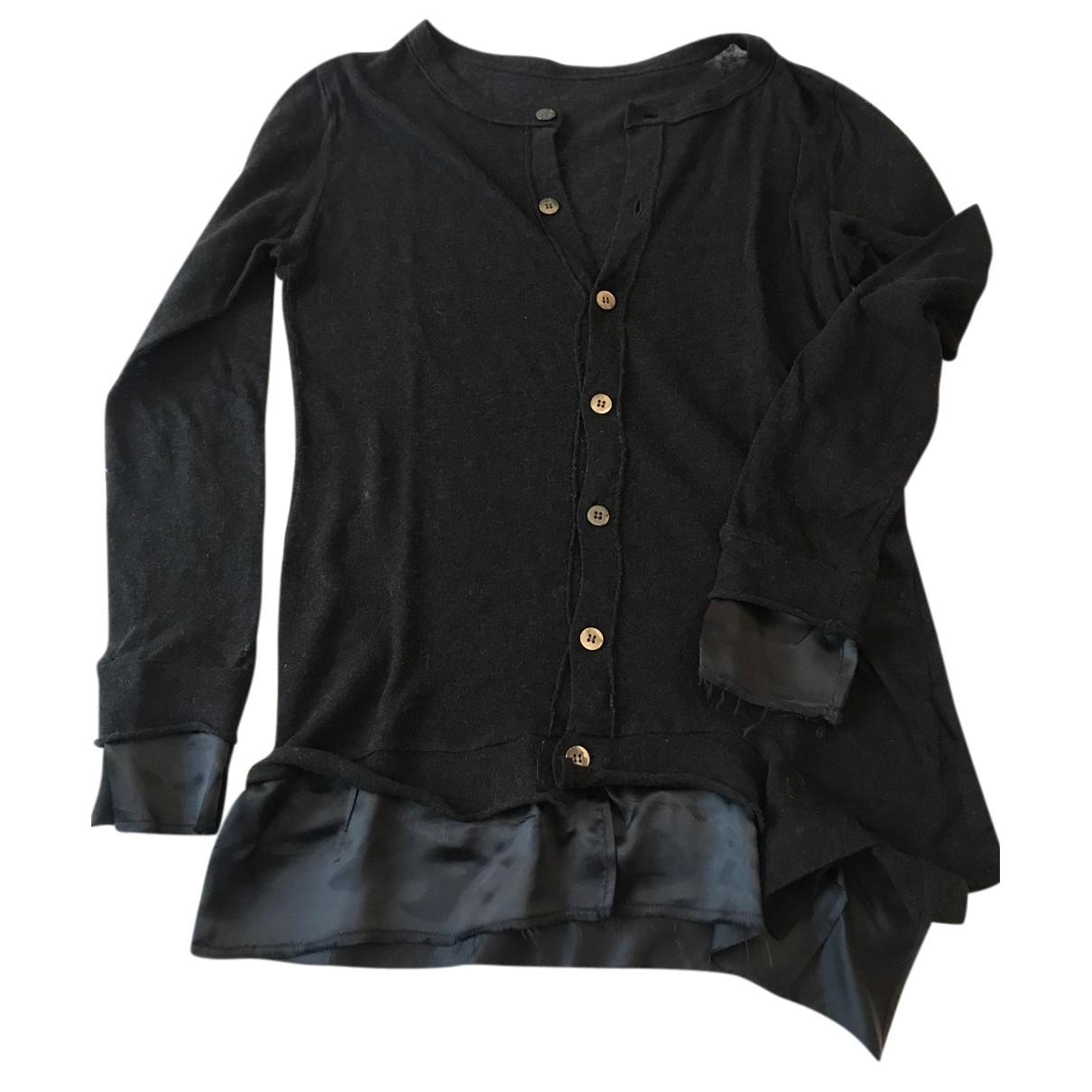 Ys - Pull   pour femme en coton - noir