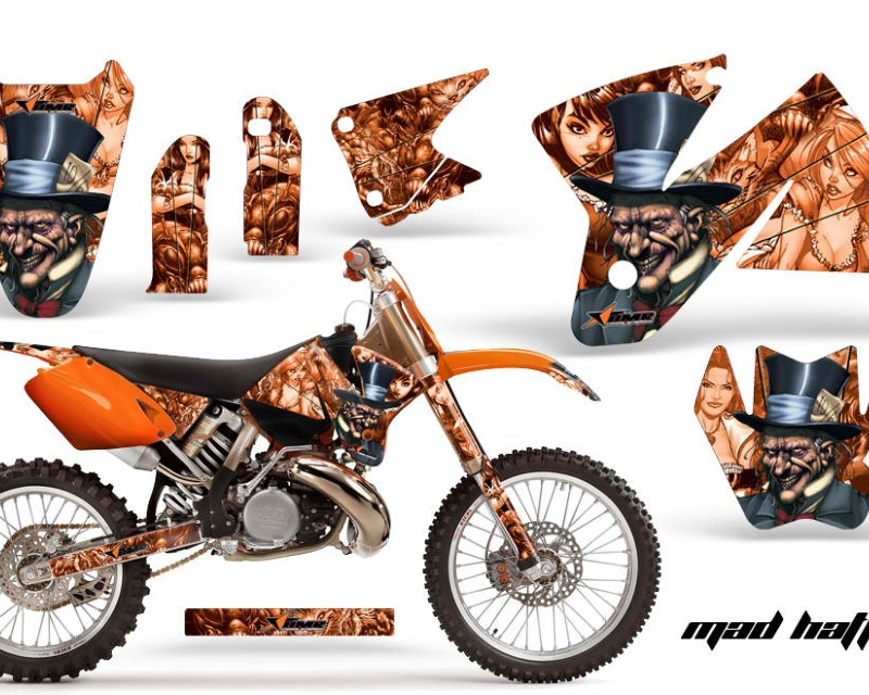 AMR Racing Dirt Bike Decal Graphic Kit Sticker Wrap For KTM SX/XC/EXC/MXC 1998-2001áHATTER ORANGE