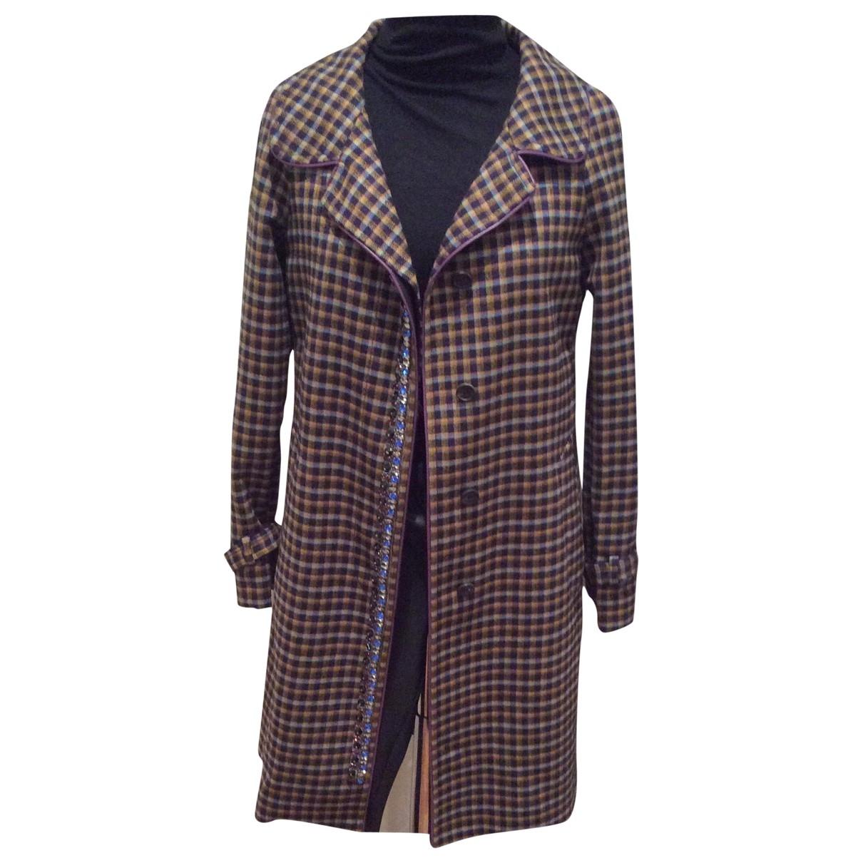 Prada - Manteau   pour femme en laine - multicolore