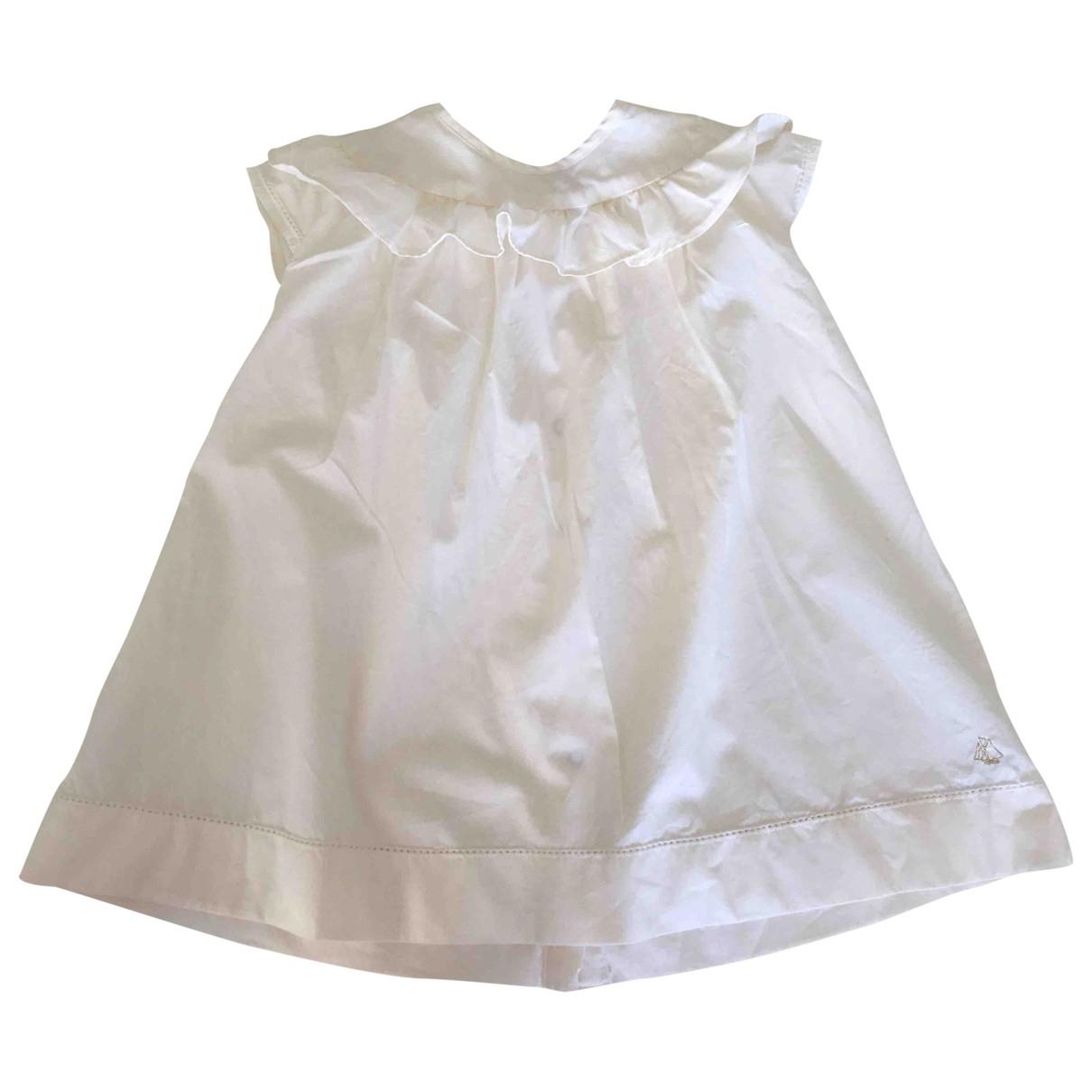 Petit Bateau \N Kleid in  Ecru Baumwolle
