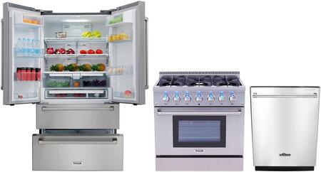 3-Piece Kitchen Appliances Package With HRF3601F 36